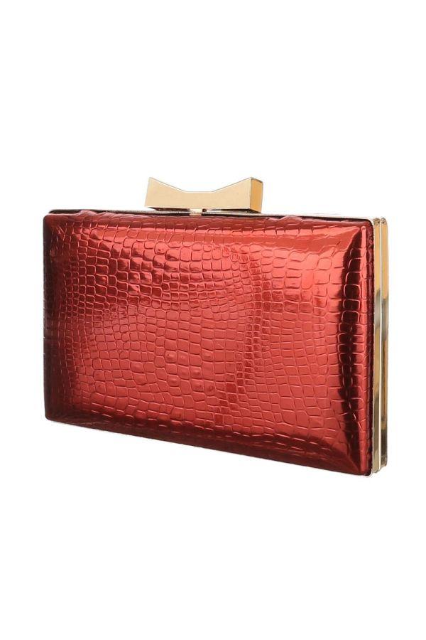 FSW153095 EVENING BAG RED GOLD