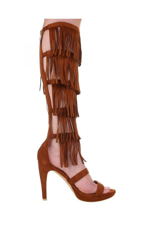 FSW689753 SANDAL GLADIATOR CUTOUTS BROWN