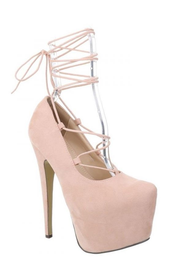 FSWK0021 PUMP HIGH HEEL SUEDE PINK
