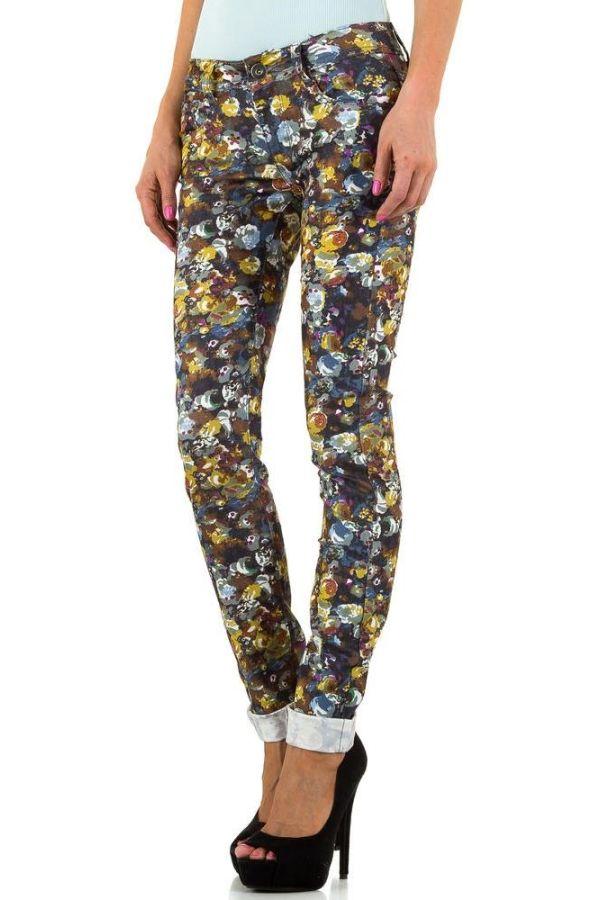 πολύχρωμο παντελόνι με πέντε τσέπες