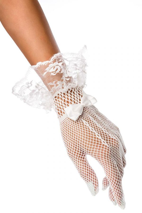GLOVES NET LACE WHITE DAT2014395