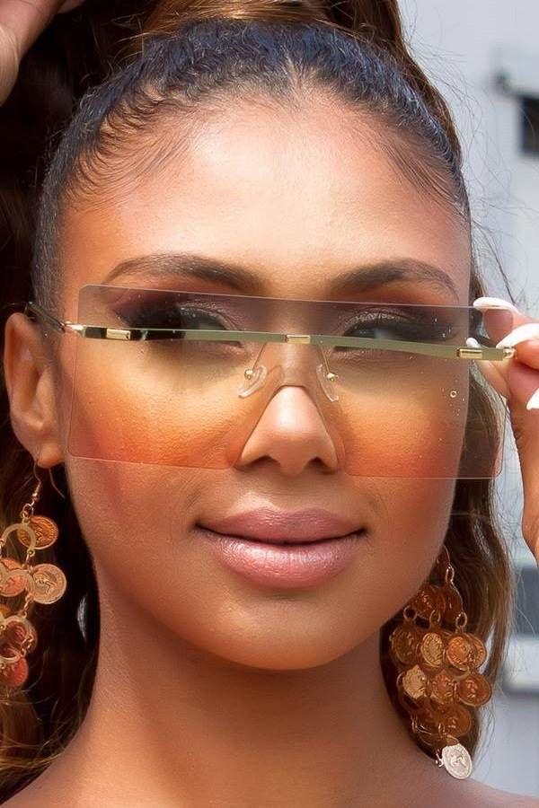 Γυαλιά Ηλίου Σέξι Ορθογώνια Rimless Πράσινα ISDR711292