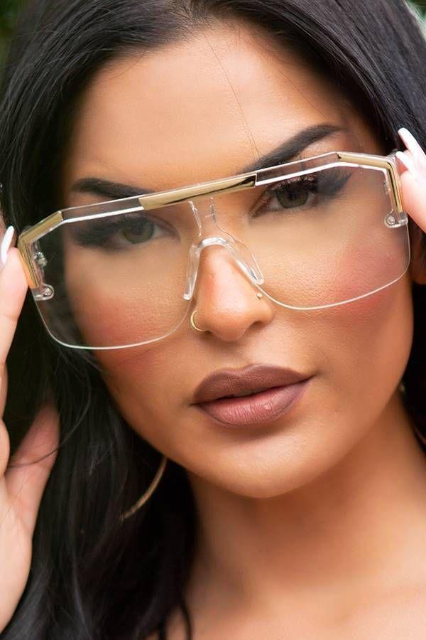 Γυαλιά Ηλίου Σέξι Τετράγωνα Άσπρα Χρυσά ISDR57261
