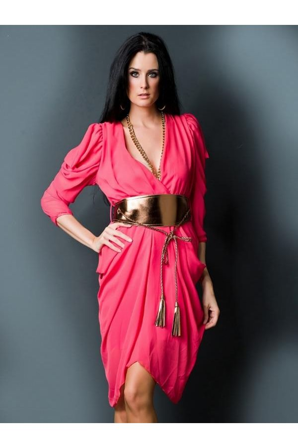 GIN3638 DRESS FUCHSIA