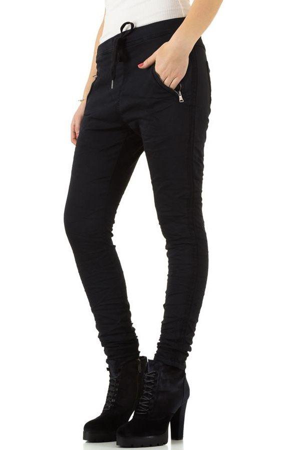 παντελόνι λάστιχο μέση πλαϊνή ρίγα μαύρο.