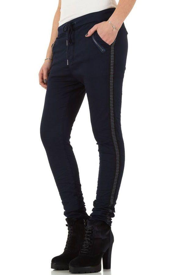 παντελόνι λάστιχο μέση πλαϊνή ρίγα μπλε.