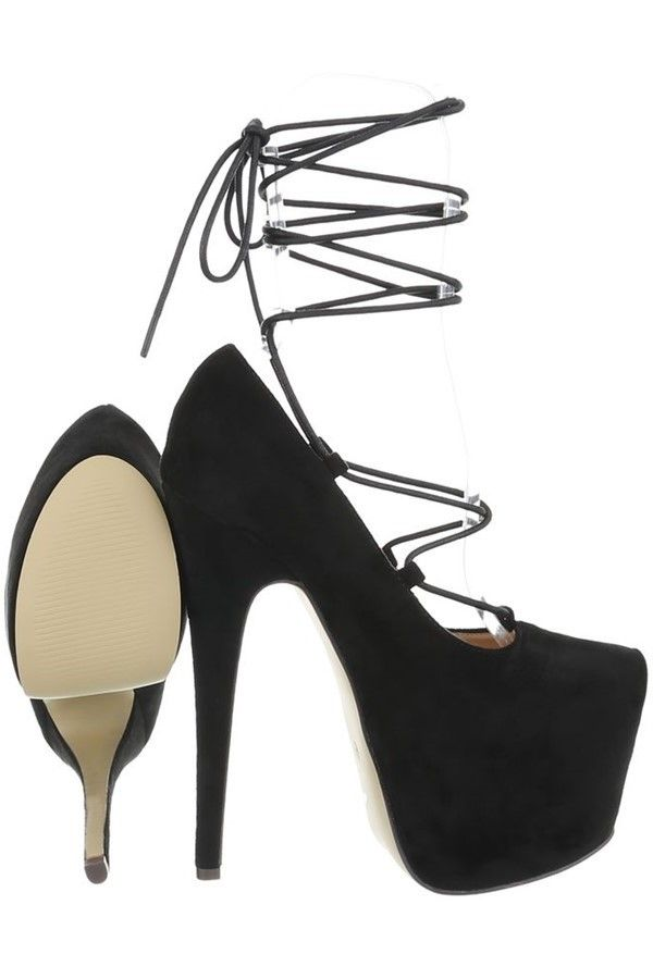 PUMPS HIGH HEEL SUEDE BLACK FSWX511