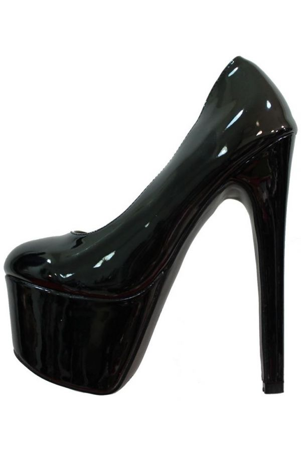 PUMPS SEXY HIGH HEELS PATENT BLACK PARSM007