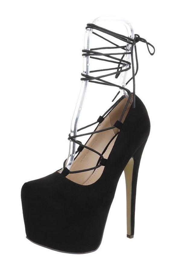 pumps high heel platform suede black.