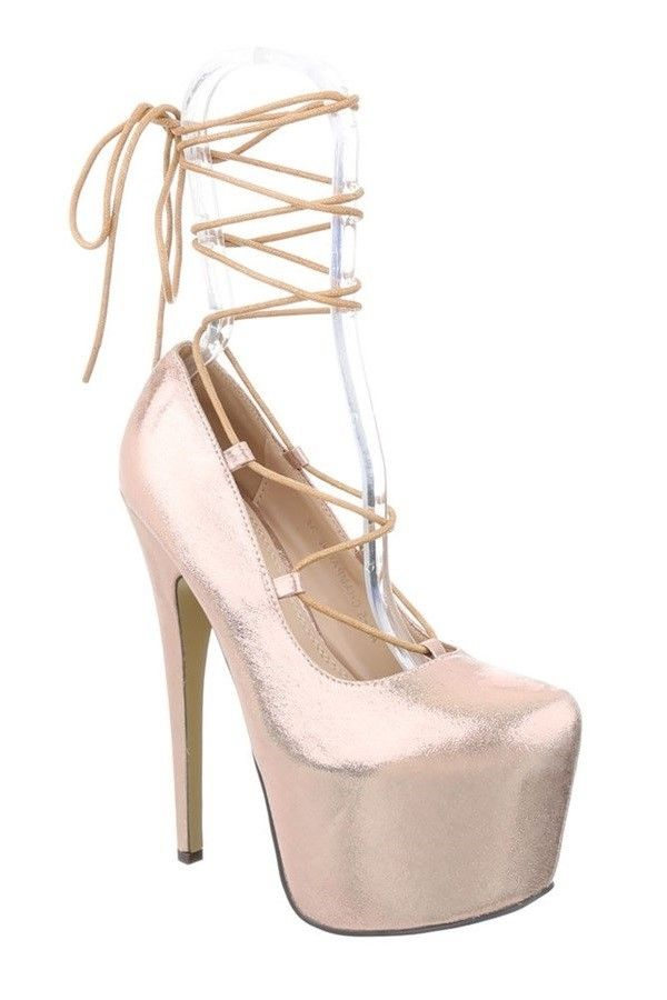 PUMPS HIGH HEEL SATIN CHAMPAGNE FSWX511