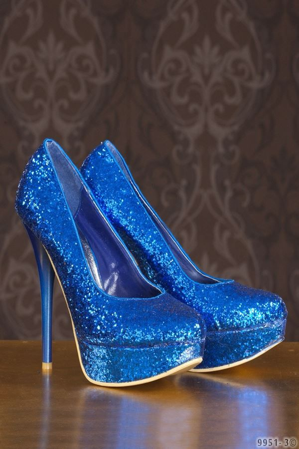 PUMPS GLITTER FORMAL BLUE Q189951