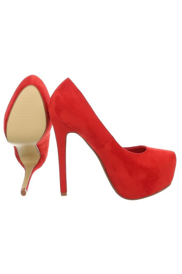 PUMP SUEDE RED FSW10311
