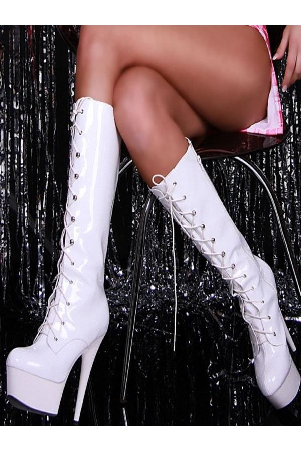 IS0175B BOOT HIGH HEELS WHITE