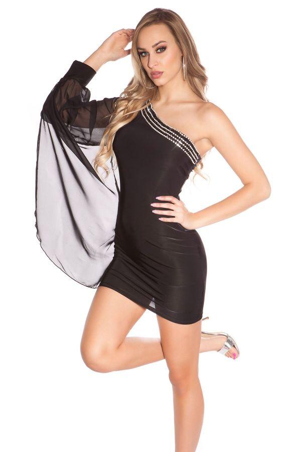 ISDF151857 DRESS ASYMMETRIC BLACK