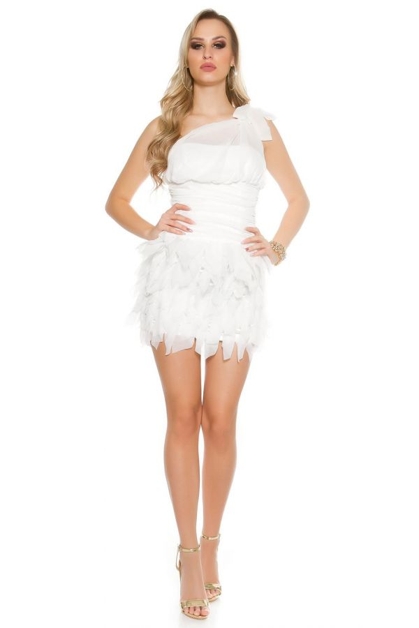 κοντό_ασύμμετρο_φόρεμα_τιράντα_δέσιμο_στον_έναν_ώμο_γυμνή_πλάτη_άσπρο