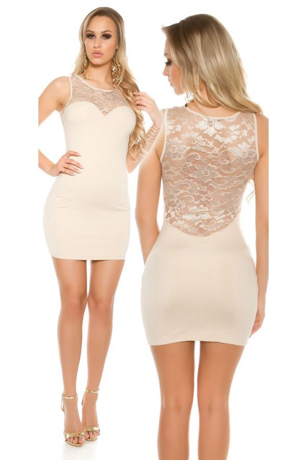ISDLE7111 DRESS LACE BEIGE