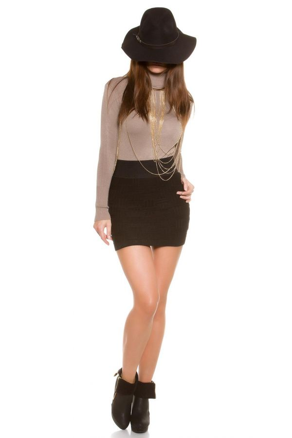ISDPU16669 SKIRT KNITTED BLACK