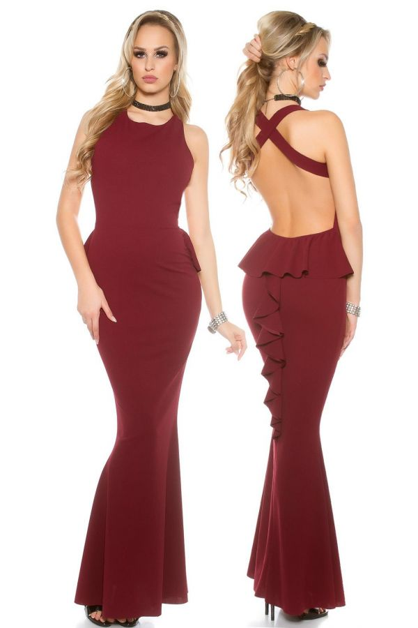 ISDV28309 DRESS MAXI BORDEAUX