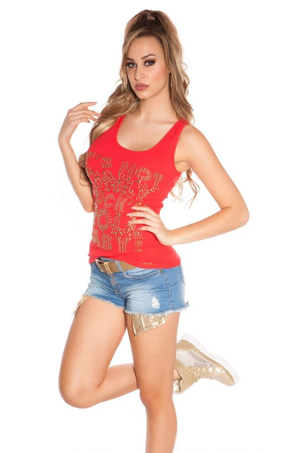 ISDX05272 TOP LACE RED