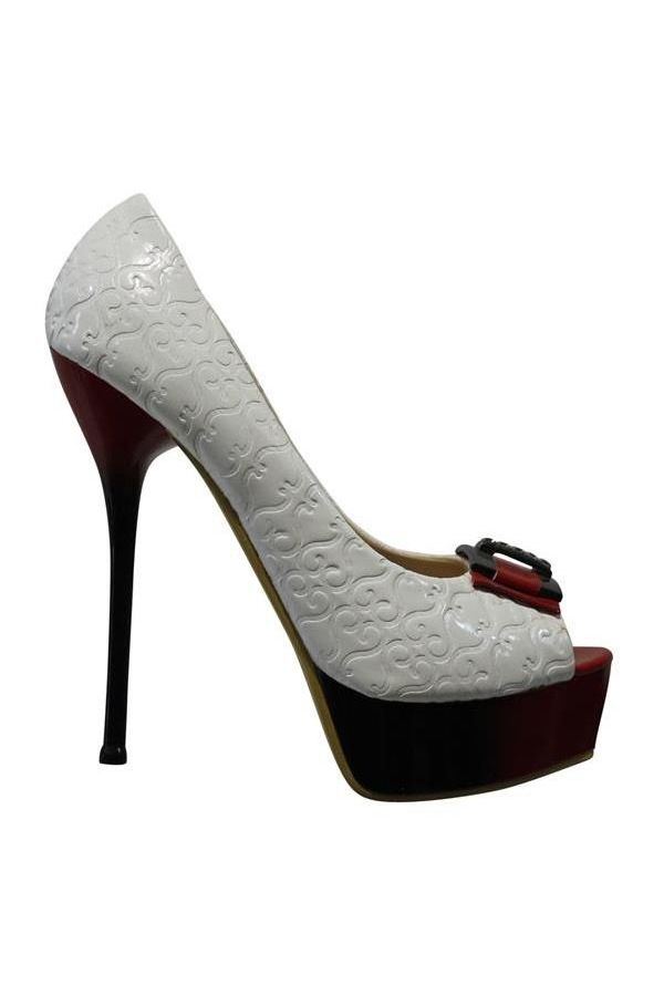 J761 PEEP TOE WHITE