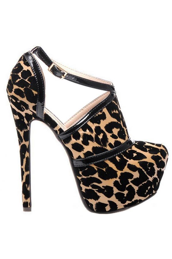 JD1189 ANKLE BOOT LEOPARD