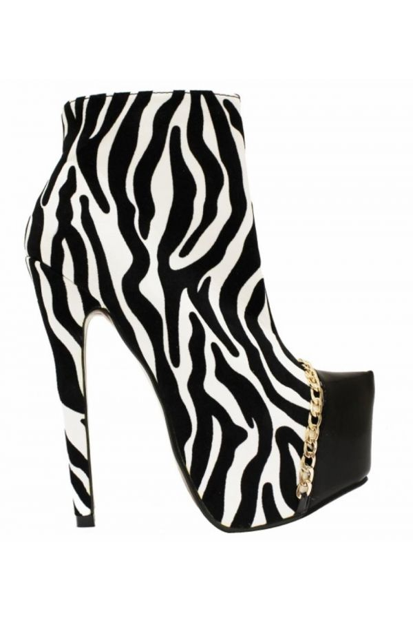 JD896 ANKLE BOOT ZEBRA