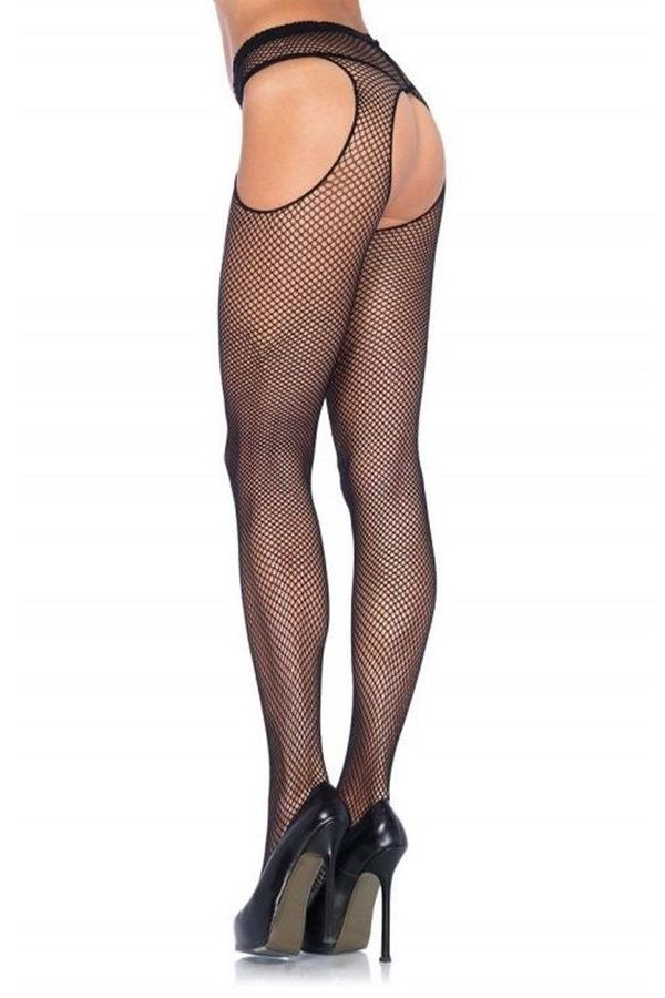 TIGHTS NET SEXY OPEN BLACK DRED1402Q