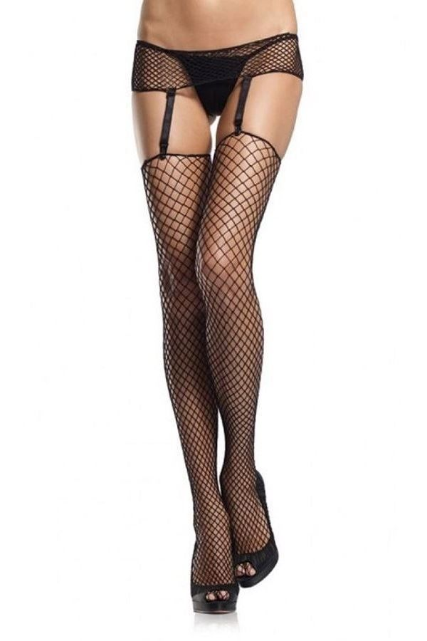 stockings net sexy garter belt black.