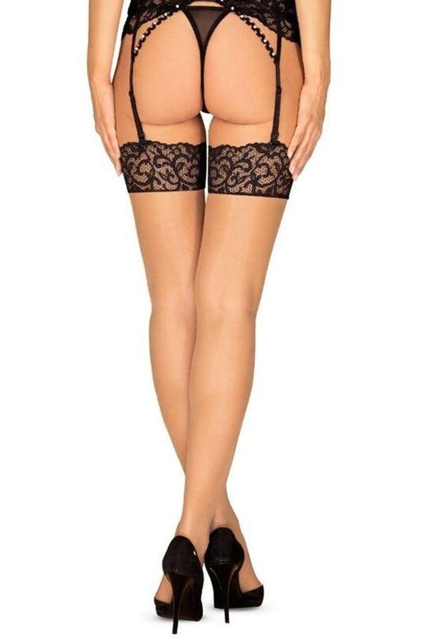 stockings sexy black lace skin.