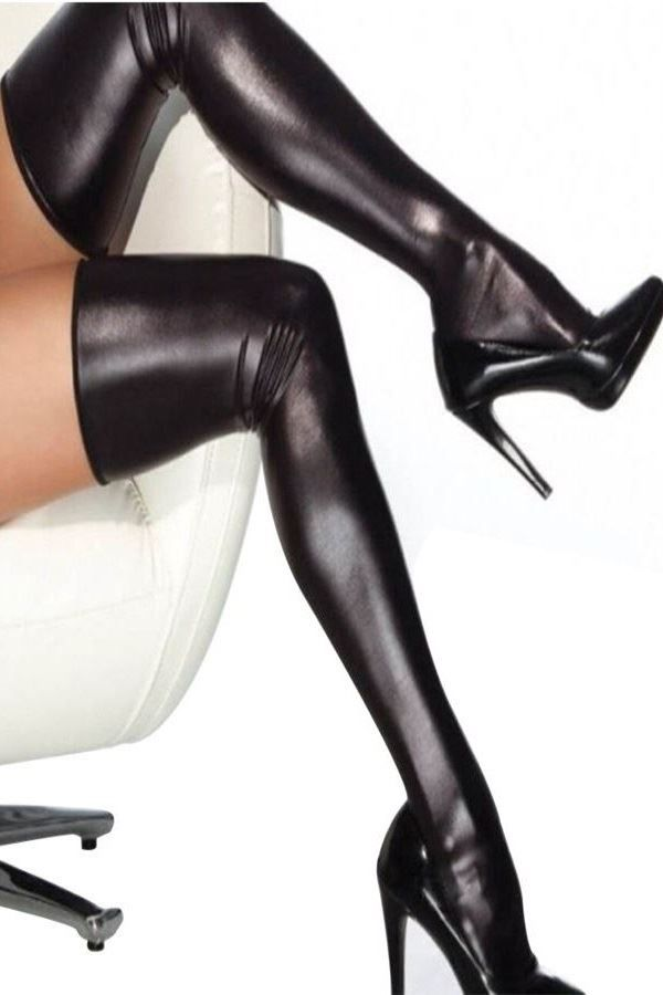 STOCKINGS QUEEN SEXY LATEX BLACK DRED223331