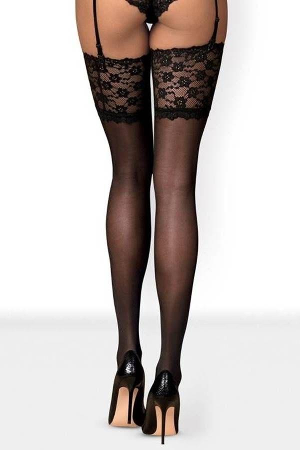 Κάλτσες Ψηλές Obsessive Δαντέλα Μαύρες DRED221867
