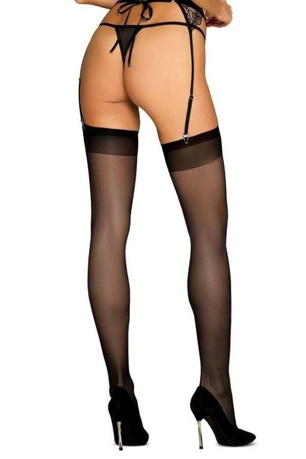 Κάλτσες Ψηλές Σέξι Obsessive Μαύρες DRED228919