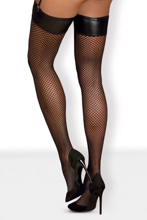 κάλτσες obsessive ψηλές σέξι διχτυωτές μαύρες.