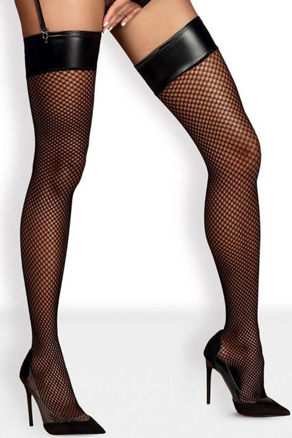 STOCKINGS SEXY HIGH OBSESSIVE SEXY NET BLACK DRED221645