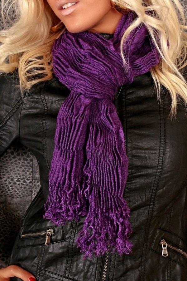 scarf purple.
