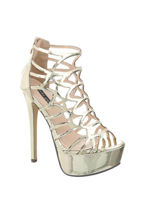 KJDK0036 SANDAL FORMAL PATENT GOLD