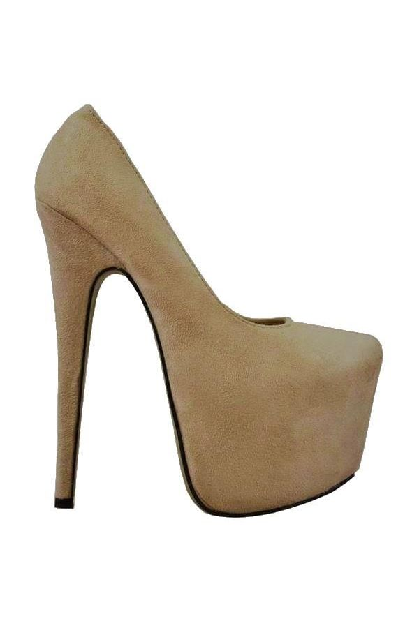 KJDK009 PUMP HIGH HEEL SUEDE BEIGE