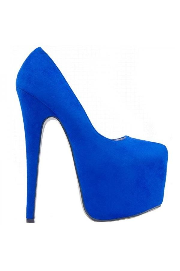 KJDK009 PUMP HIGH HEEL SUEDE BLUE