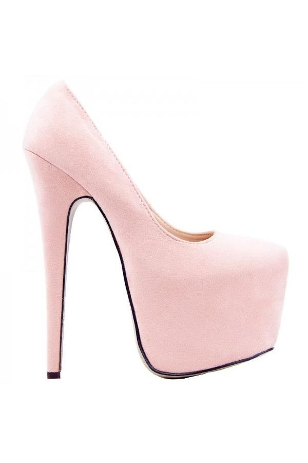 KJDK009 PUMP HIGH HEEL SUEDE PINK