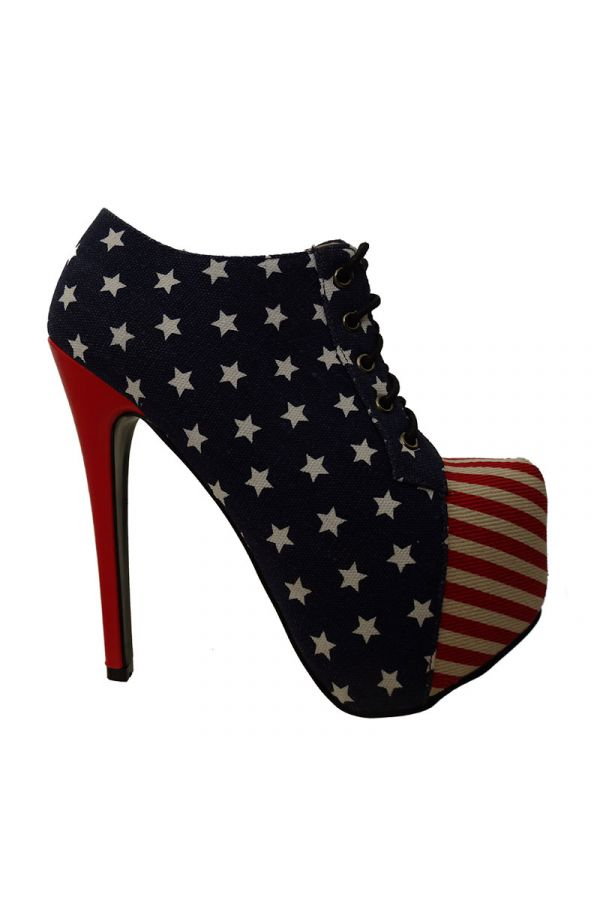 KKS40 ANKLE BOOT HIGH HEELS FLAG