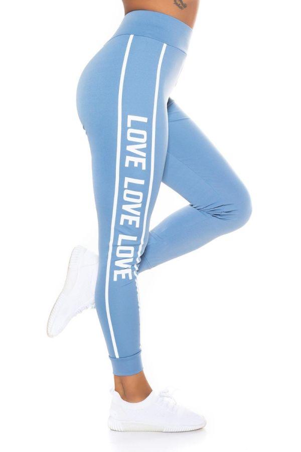 highwaist leggings print stripe blue.