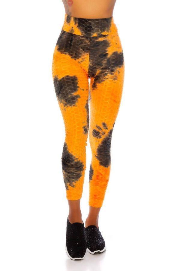 leggings gym prints orange.