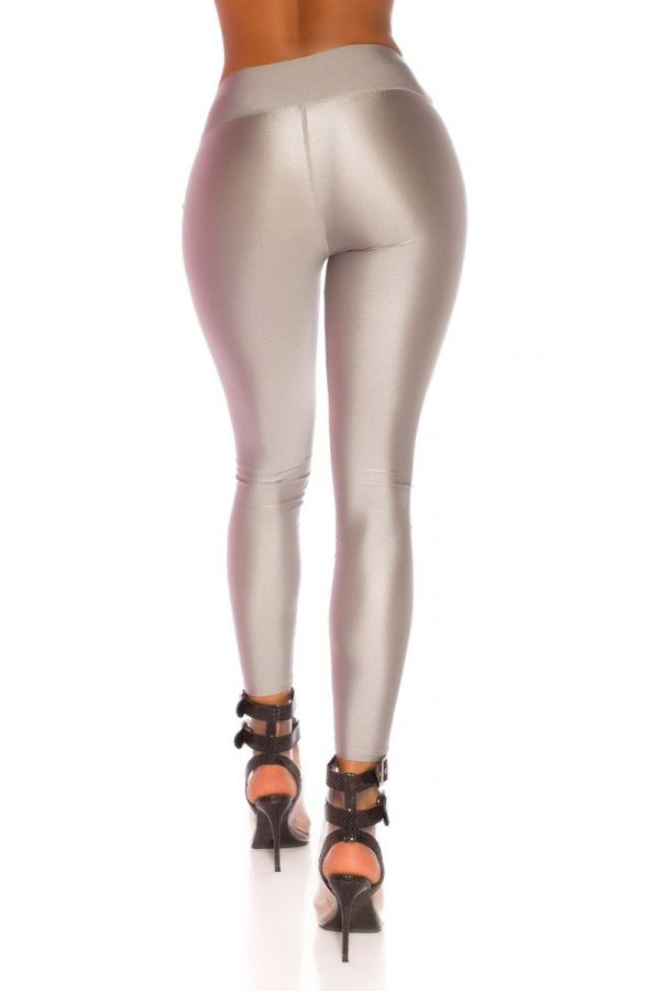 LEGGINGS SHINNY METALLIC GREY ISDG82761