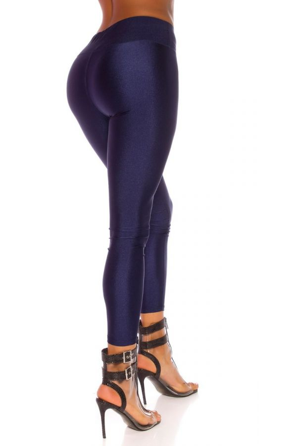 LEGGINGS SHINNY METALLIC BLUE ISDG82761