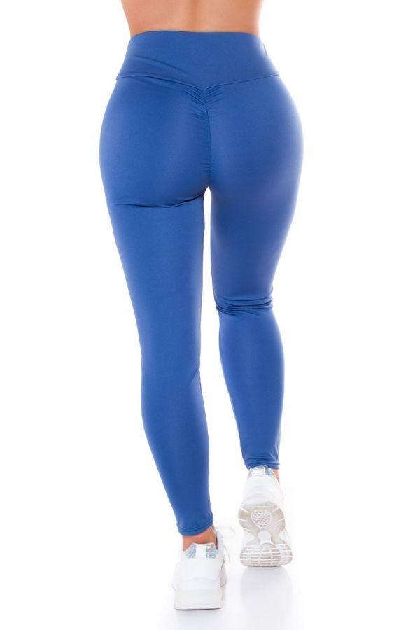 HIGHWAIST LEGGINGS SEXY PUSH UP BLUE ISDE87121