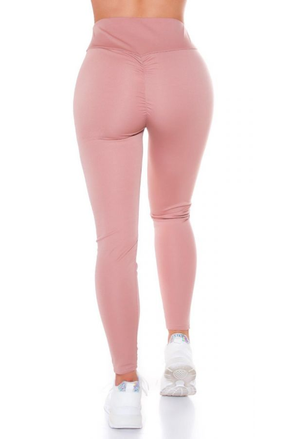 HIGHWAIST LEGGINGS SEXY PUSH UP PINK ISDE87121