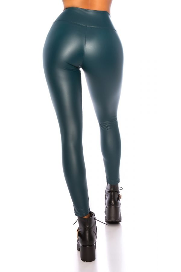 LEGGINGS THERMO WET LOOK GREEN ISDG20485