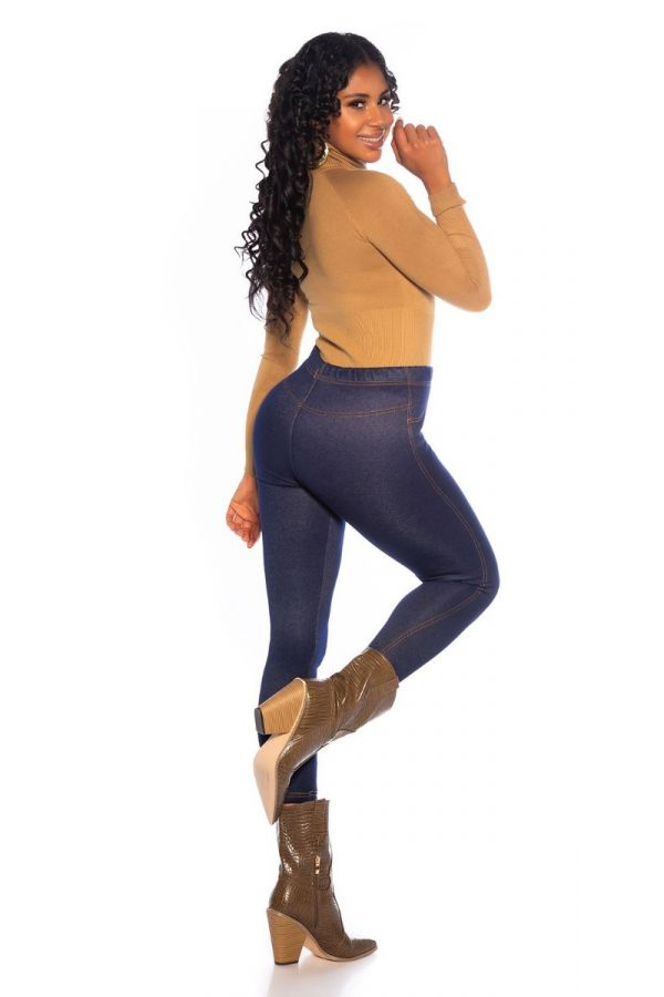 LEGGINGS THERMO JEANS LOOK BLUE ISDE74806