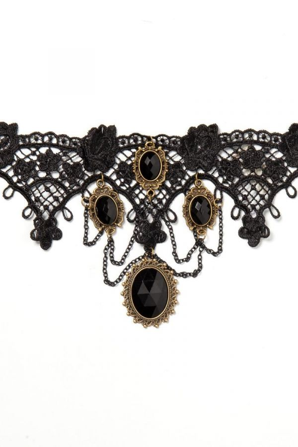 NECKLACE GOTHIC BLACK GOLD DAT1914825