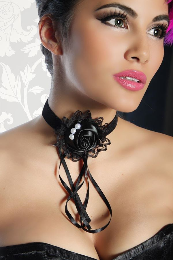 NECKLACE GOTHIC SATIN BLACK DAT2012639
